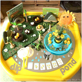 Duck Themed Tuff Tray. Duck Activities for Preschool.