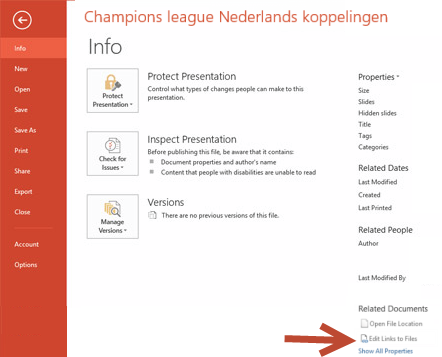 Luc's PowerPoint blog: Break links from Excel in PPT 2013