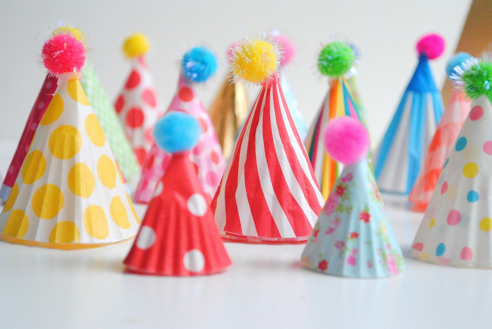 Faschingsdeko Party Diy Party Hat Cupcake Toppers
