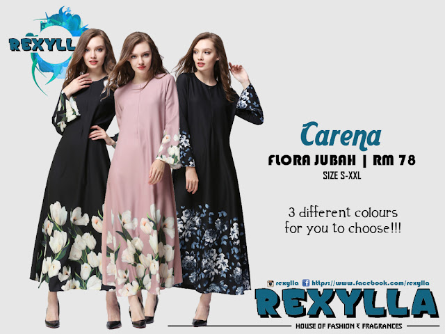 rexylla, flora jubah, trumpet jubah, flora trumpet jubah, carena collection