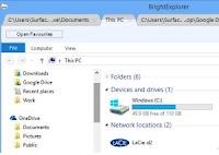 Aprire cartelle con esplora file a schede su Windows