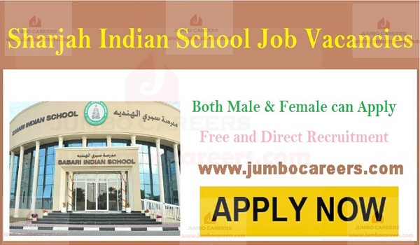 Sharjah Indian School Job Vacancies