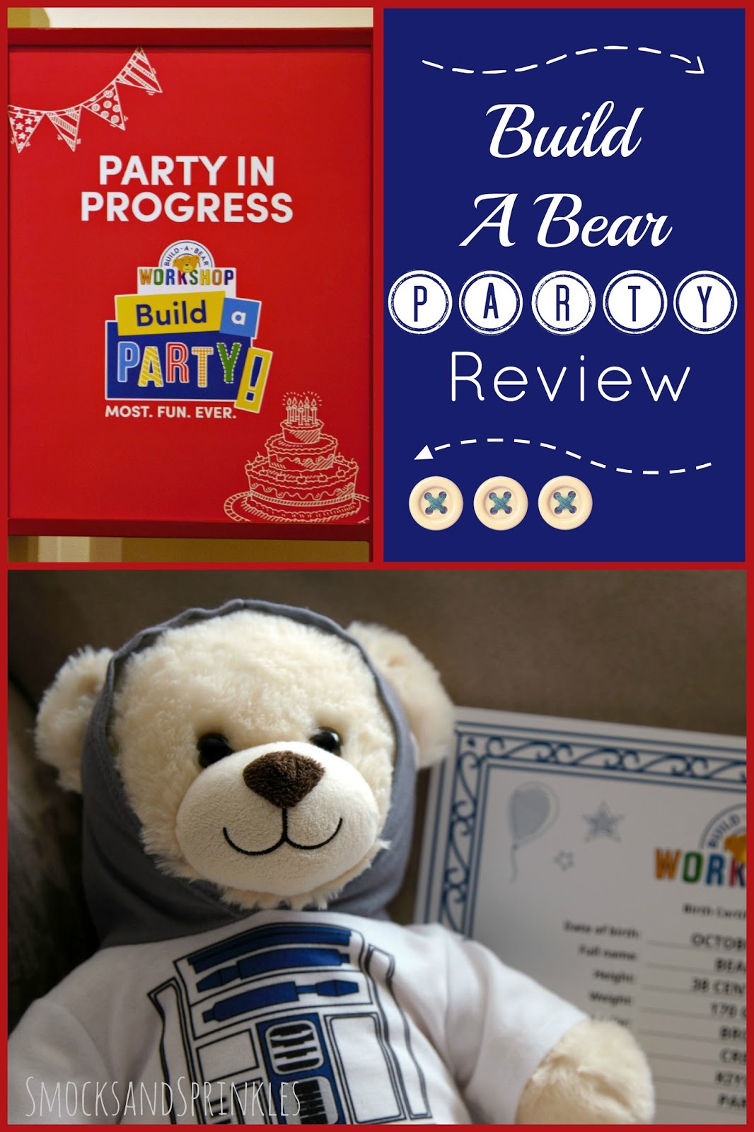 Build The Bear: Smocks And Sprinkles: Build-a-Bear Birthday Party Review