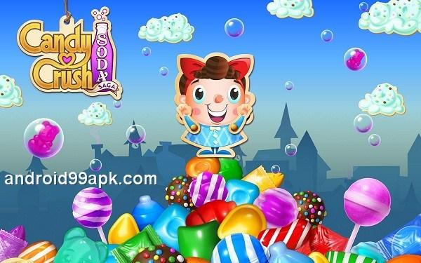 لعبة Candy Crush Soda Saga v1.172.4 مهكرة بحجم 74 ميجابايت للأندرويد