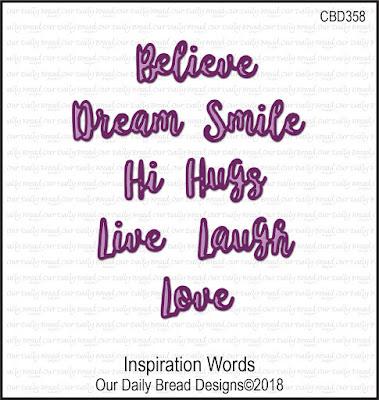 ODBD Custom Dies: Inspiration Words