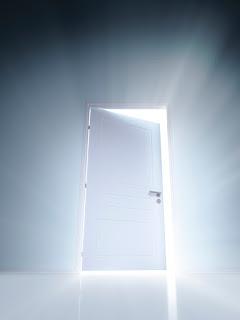 Opens the door