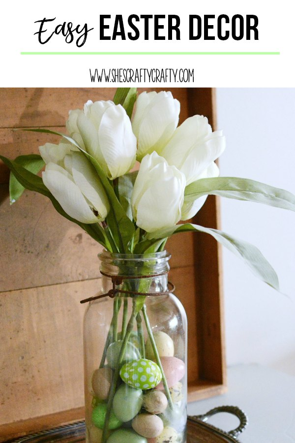 easter, farmhouse, tulips, eggs, jar