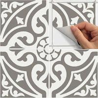 Modelos de alfombras vinilicas - Gris y blanco