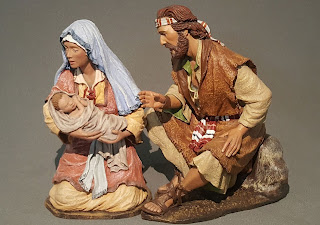 nacimiento, misterio, natividad hebrea de 12 cm.