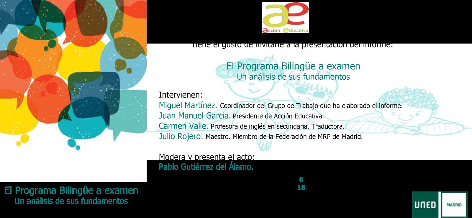 Mareaverde 6 10 2017 presentaci n del informe el for Accion educativa en el exterior
