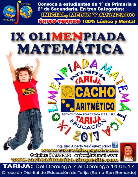 Cacho Aritmético - Mejorando el nivel de Matemática Mental en Tarija