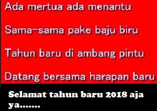 Pantun Lucu Ucapan Selamat Tahun Baru 2019
