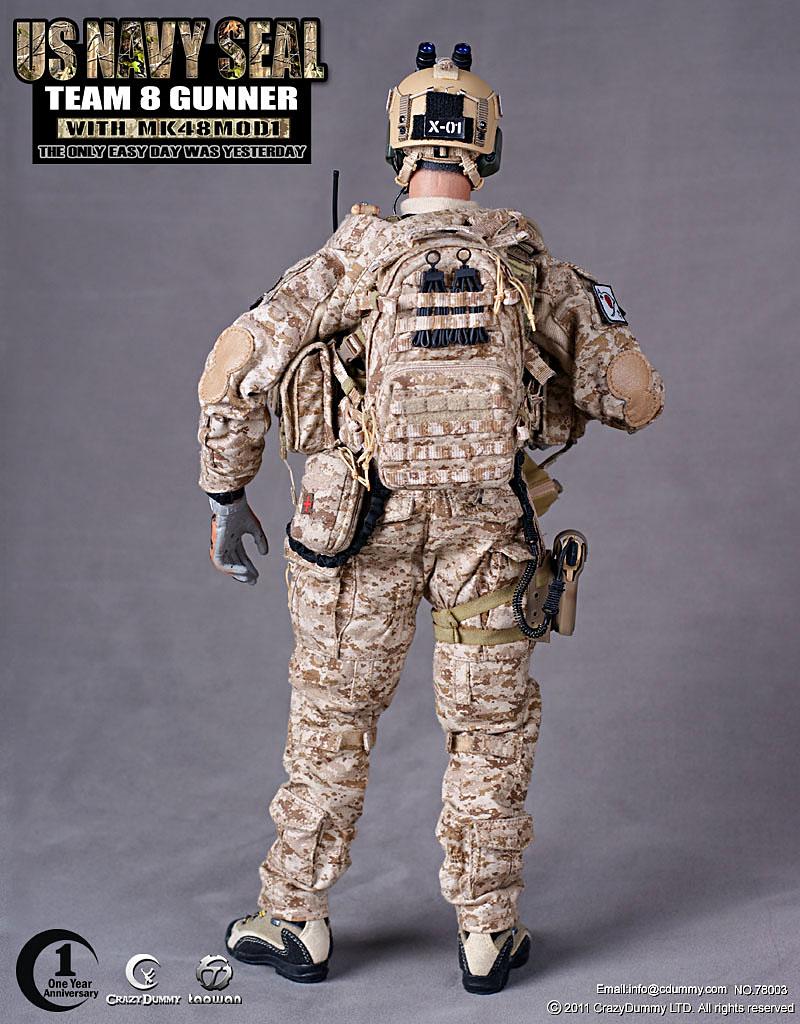 MY LOVE 4 TOYS: CrazyDummy 1/6 US NAVY SEAL TEAM 8 GUNNER
