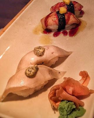 green tea sushi bar palace sushi niguiri pez mantequila guncan foie