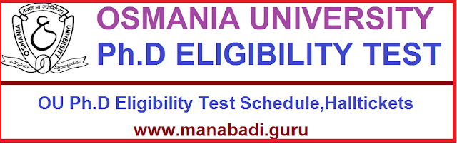 Ph.D Admissins,OU Ph.D Eligibility Test,Entrance test