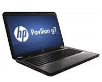 Der Laptop HP Pavilion G7-2278SA Laptop Computer Prozessor Intel Core i5-3210M 2,5 GHz, 6 GB DDR3 RAM, 500 GB Hardk-Festplatte SATA 5400 RPM HDD, Intel HD Graphics 4000, DVD-RAM, Webcam,