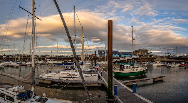 Photo of another view of the clouds over the marina