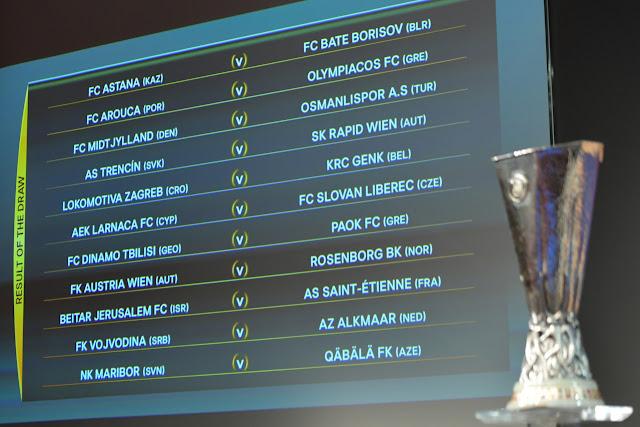 Διαβάστε αναλυτικά όλα τα ζευγάρια της φάσης των play off του Europa League