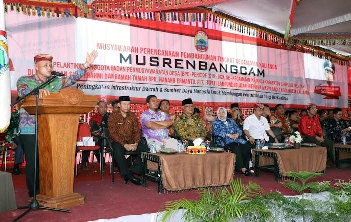 Anggaran Pembangunan Kecamatan Kalianda Mencapai Rp106 Miliar.