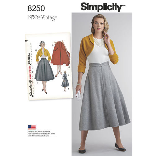 Simplicity 8250 1950s skirt pattern