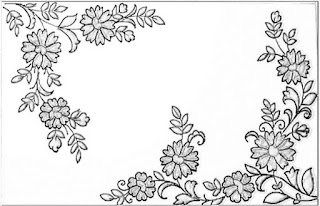 Hand emroidery and machine embroidery design patterns pencil sketch on tracing paper.  How to draw an essay hand embroidery design motifs.