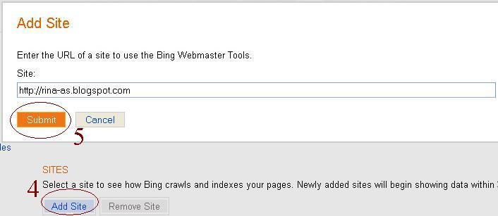 Rina As: Cara Submit Sitemap Di Bing Webmaster Tool