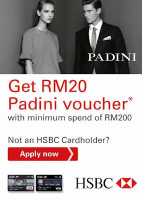 Padini Concept Stores Free Cash Voucher HSBC Credit Card Promo
