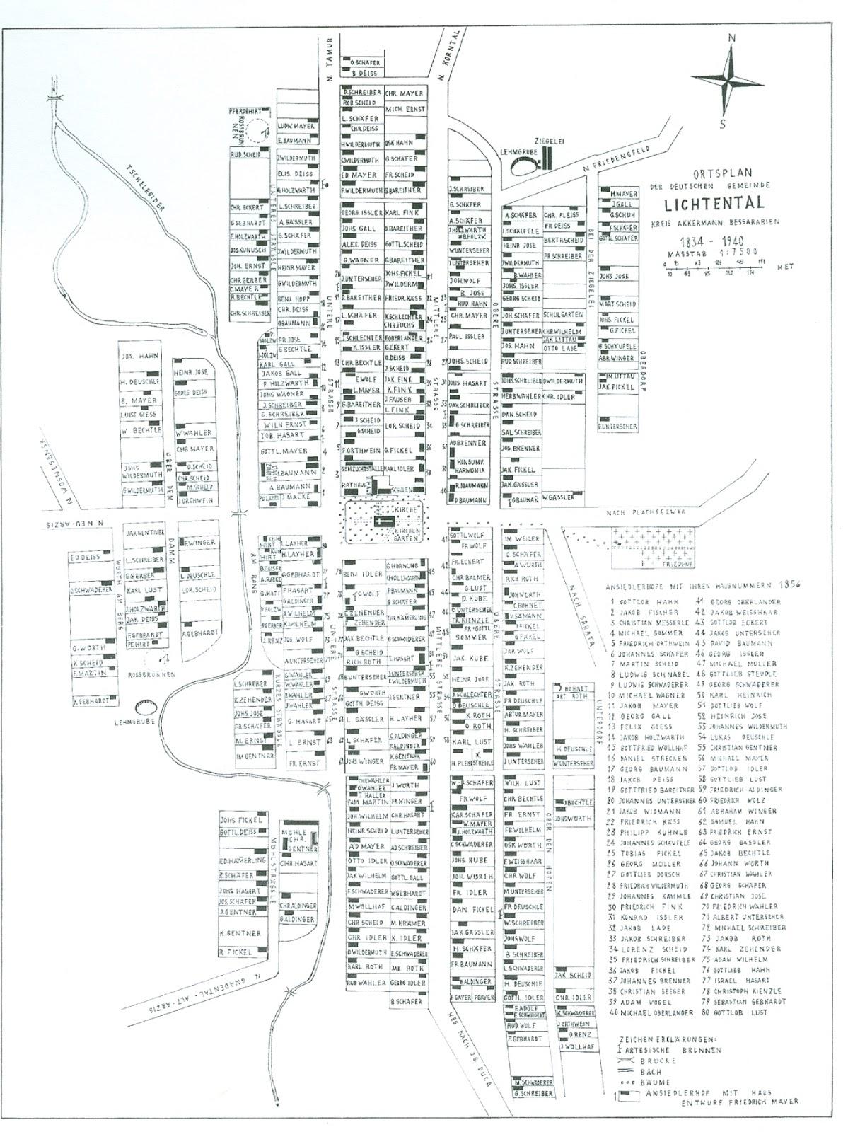 Germans from Russia Settlement Locations: Lichtental, Akkerman