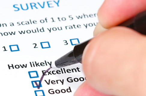 image showing person taking a survey