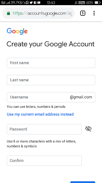 How to Make New Email Id On Mobile