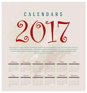 2017カレンダー無料テンプレート10