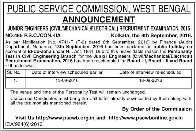 Public Service Commission , Announcement