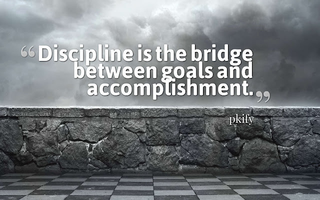 Discipline Is the Bridge Between Goals and Accomplishment Wisdom Quotes