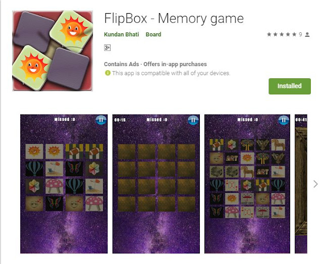Android Memory Game That Took My Heart
