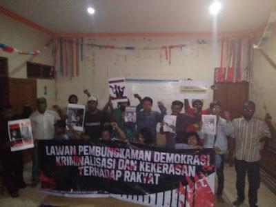 AMP dan FMN Gelar Konferensi Pers Lawan Kriminilisasi, Kekerasan dan Pembungkaman Ruang Demokrasi