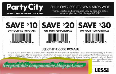 photograph about Party City Coupons Printable identify Social gathering Town Discount codes and Savings