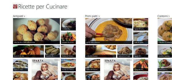 Ricette per cucinare app windows 10