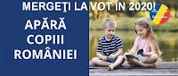 """""""Apara copiii Romaniei"""", mergi la vot in 2020!"""