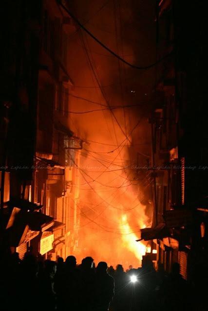Darjeeling ablaze on Metro bookstore line
