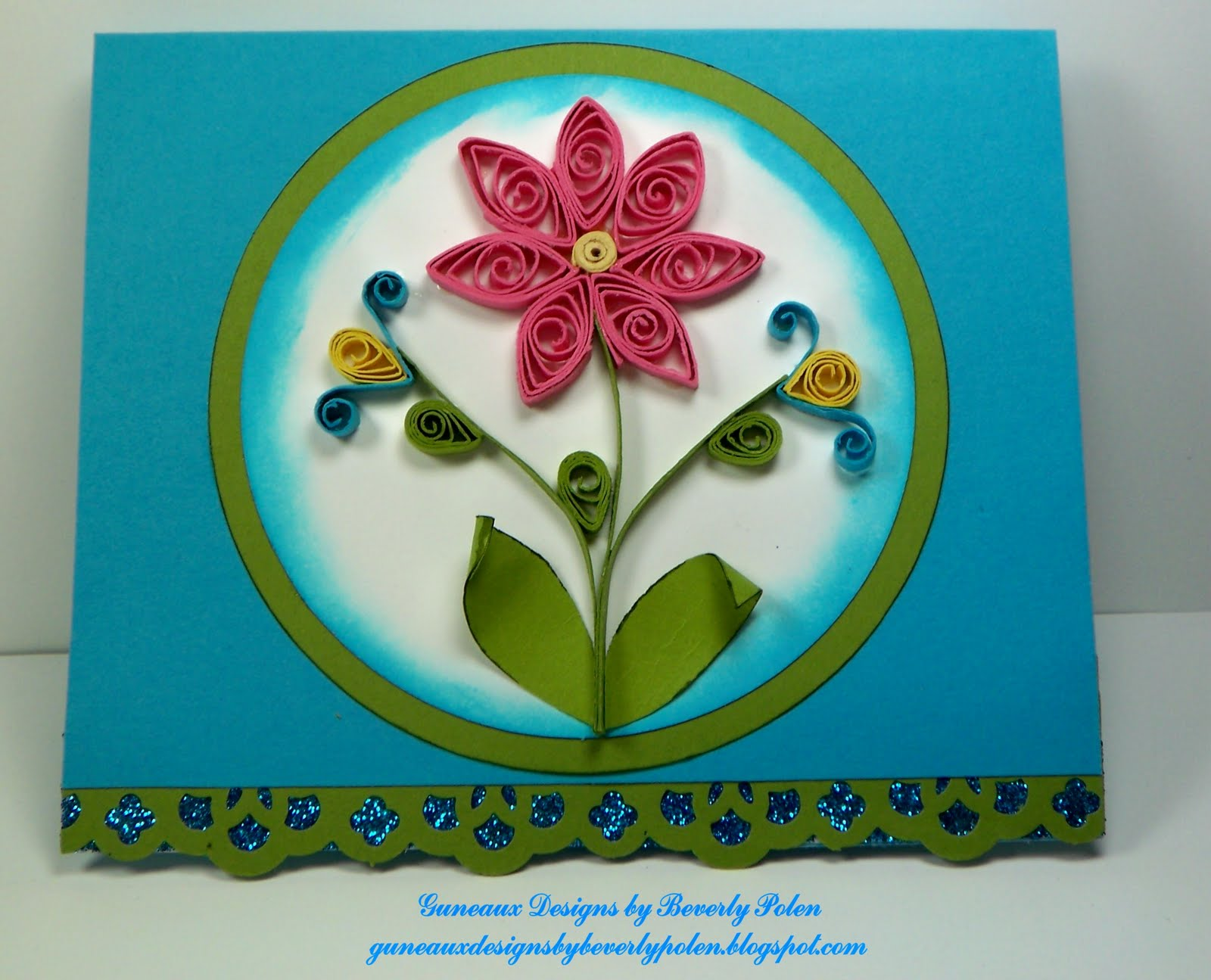 Guneaux designs by beverly polen stampin 39 up greeting for Paper quilling paper