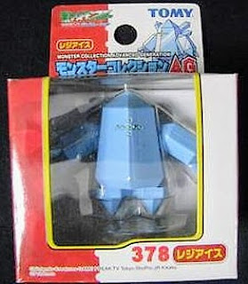 Regice Pokemon figure Tomy Monster Collection AG series
