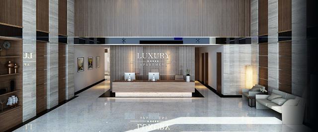 Sảnh đón tiếp cư dân Luxury Apartment Đà Nẵng