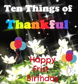Ten Things of Thankful