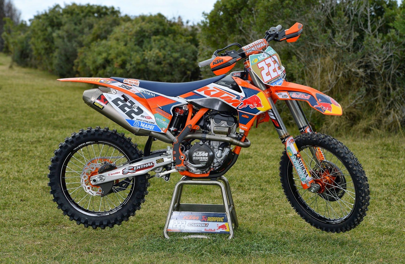 racing caf ktm sx 350f tony cairoli team red bull ktm factory racing 2014. Black Bedroom Furniture Sets. Home Design Ideas