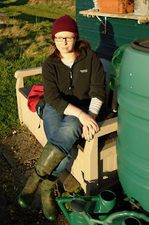 me, I was at the allotments! - www.growourown.blogpsot.com