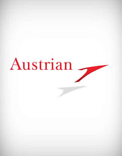 austrian airlines vector logo, austrian airlines, vector, logo, vehicle, car, micro, private, bus, truck, plane, areoplane