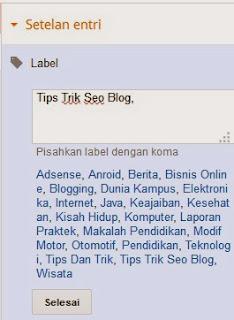 Cara Membuat Label Atau Categori Artikel Di Blog