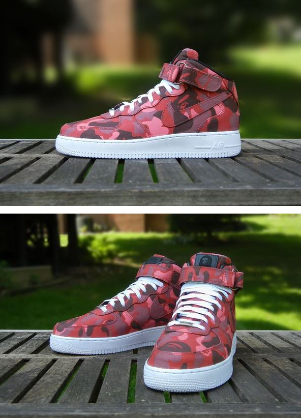 buy popular 61bc4 87019 ... by JBF Customs using Bape on a Nike Air Force 1 Mid Sneaker , I cant  believe no other customizers are not doing this kind of stuff.