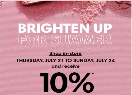 Holt Renfrew Brighten Up For Summer 10% Back On Beauty Purchases