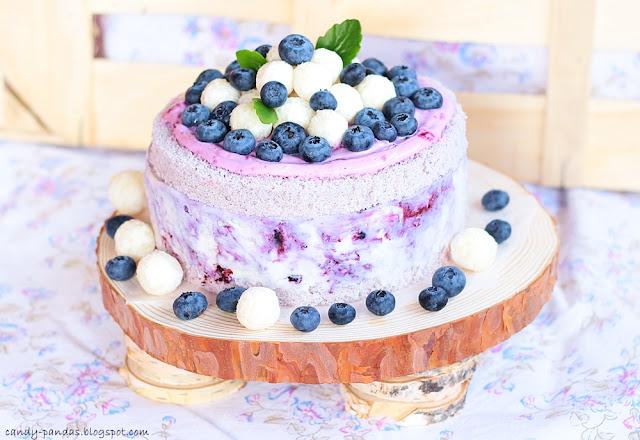Tort lodowy jagodowo- kokosowy (bez glutenu, cukru, laktozy)